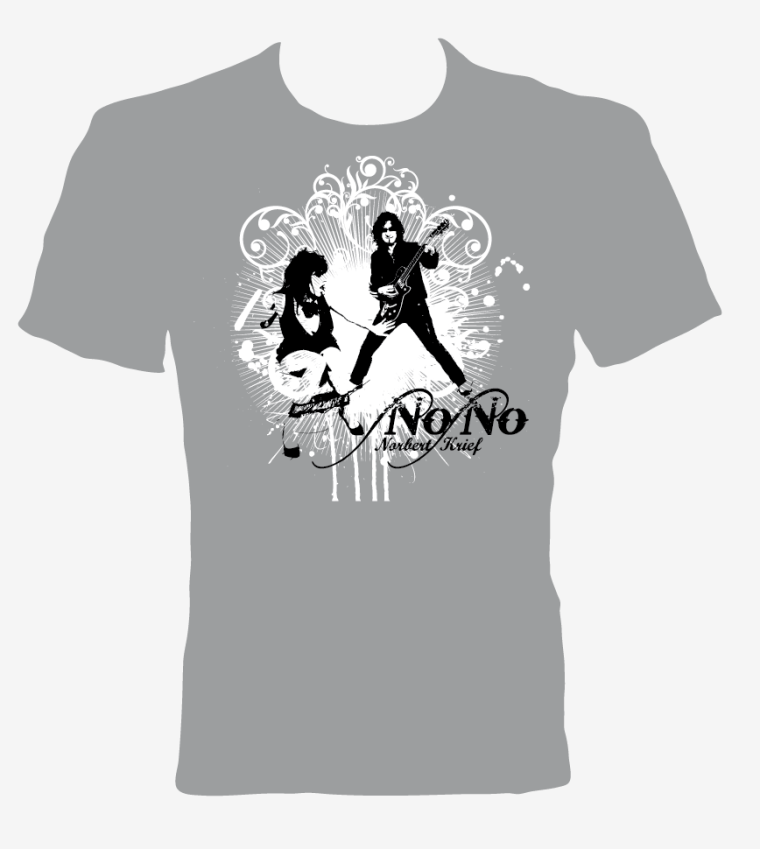 "T-Shirt Grey ""Norbert Nono Krief"""